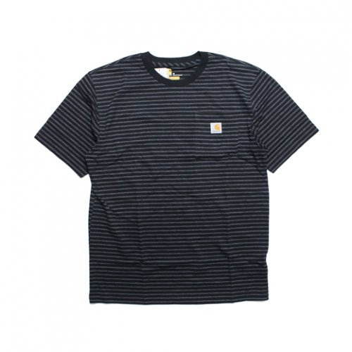 Carhartt-POCKET S/S T-SHIRT(BLACK STRIPE)<img class='new_mark_img2' src='//img.shop-pro.jp/img/new/icons5.gif' style='border:none;display:inline;margin:0px;padding:0px;width:auto;' />