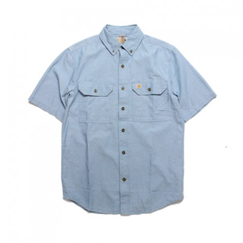 Carhartt-RELAXED FIT S/S SHIRT(BLUE CHAMBRAY)<img class='new_mark_img2' src='https://img.shop-pro.jp/img/new/icons5.gif' style='border:none;display:inline;margin:0px;padding:0px;width:auto;' />