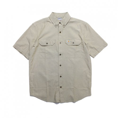Carhartt-RELAXED FIT S/S SHIRT(KHAKI)<img class='new_mark_img2' src='//img.shop-pro.jp/img/new/icons5.gif' style='border:none;display:inline;margin:0px;padding:0px;width:auto;' />