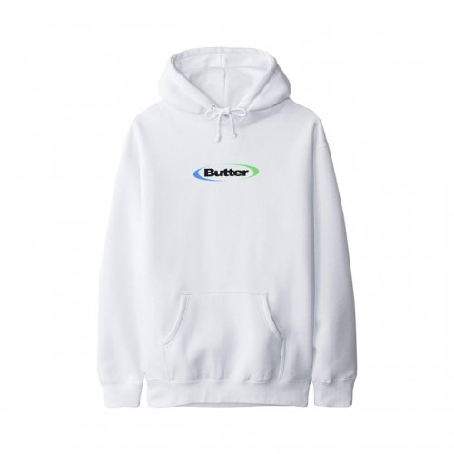 BUTTER GOODS-ORBIT LOGO HOODIE(WHITE)<img class='new_mark_img2' src='//img.shop-pro.jp/img/new/icons5.gif' style='border:none;display:inline;margin:0px;padding:0px;width:auto;' />