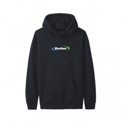 BUTTER GOODS-ORBIT LOGO HOODIE(BLACK)<img class='new_mark_img2' src='https://img.shop-pro.jp/img/new/icons5.gif' style='border:none;display:inline;margin:0px;padding:0px;width:auto;' />