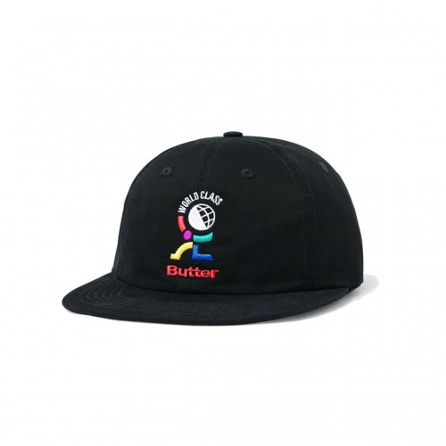 BUTTER GOODS-WORLD CLASS 6PANEL CAP(BLACK)<img class='new_mark_img2' src='//img.shop-pro.jp/img/new/icons5.gif' style='border:none;display:inline;margin:0px;padding:0px;width:auto;' />