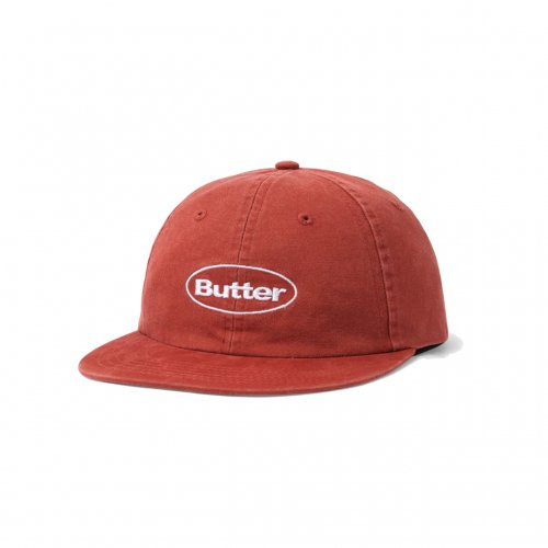 BUTTER GOODS-WASHED BADGE 6PANEL CAP(BURGUNDY)<img class='new_mark_img2' src='//img.shop-pro.jp/img/new/icons5.gif' style='border:none;display:inline;margin:0px;padding:0px;width:auto;' />