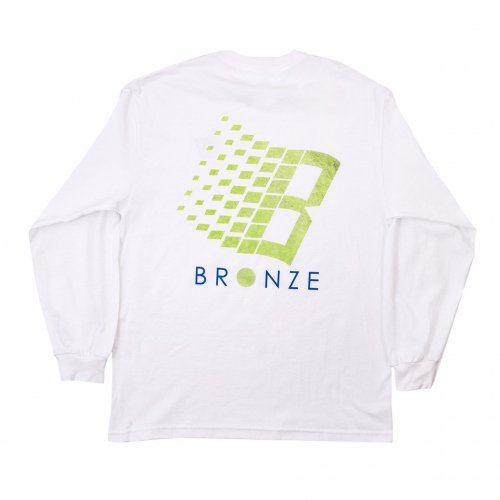 BRONZE-B LOGO L/S TEE(WHITE)<img class='new_mark_img2' src='https://img.shop-pro.jp/img/new/icons5.gif' style='border:none;display:inline;margin:0px;padding:0px;width:auto;' />