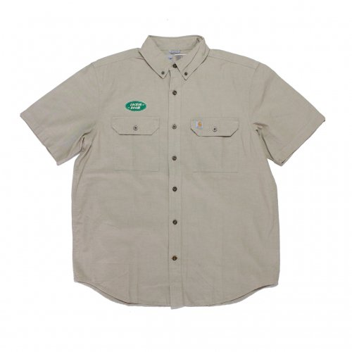 LOCKER ROOM-RELAXED S/S SHIRT(KHAKI)<img class='new_mark_img2' src='https://img.shop-pro.jp/img/new/icons5.gif' style='border:none;display:inline;margin:0px;padding:0px;width:auto;' />