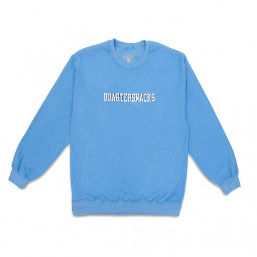 QUARTER SNACKS-Inside Out Embroidered Crewneck(CAROLINA BLUE)<img class='new_mark_img2' src='https://img.shop-pro.jp/img/new/icons5.gif' style='border:none;display:inline;margin:0px;padding:0px;width:auto;' />