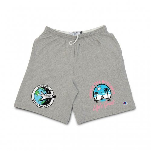 【30%OFF】QUARTER SNACKS-Motivation Short Pants(GRAY)<img class='new_mark_img2' src='https://img.shop-pro.jp/img/new/icons20.gif' style='border:none;display:inline;margin:0px;padding:0px;width:auto;' />