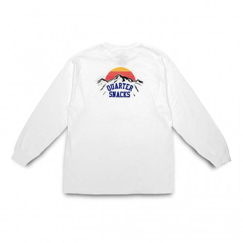 QUARTER SNACKS-Mountain L/S t-shirt(WHITE)<img class='new_mark_img2' src='https://img.shop-pro.jp/img/new/icons5.gif' style='border:none;display:inline;margin:0px;padding:0px;width:auto;' />