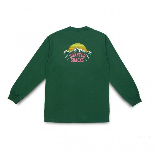 QUARTER SNACKS-Mountain L/S t-shirt(FOREST)<img class='new_mark_img2' src='//img.shop-pro.jp/img/new/icons5.gif' style='border:none;display:inline;margin:0px;padding:0px;width:auto;' />