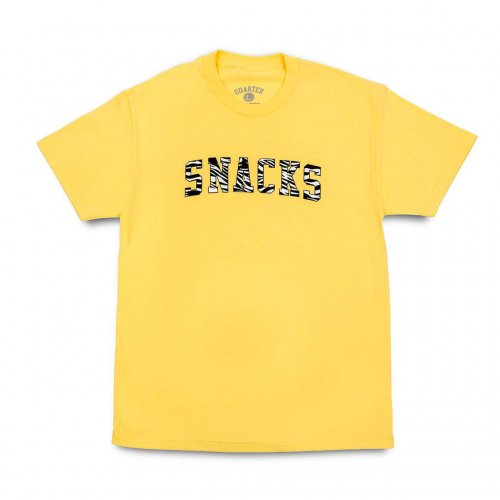 QUARTER SNACKS-SNACKS VERSITY S/S T-SHIRT(YELLOW)<img class='new_mark_img2' src='//img.shop-pro.jp/img/new/icons5.gif' style='border:none;display:inline;margin:0px;padding:0px;width:auto;' />