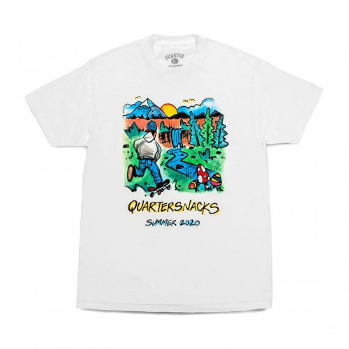 QUARTER SNACKS-2020 SUMMER CAMP S/S T-SHIRT(WHITE)<img class='new_mark_img2' src='https://img.shop-pro.jp/img/new/icons5.gif' style='border:none;display:inline;margin:0px;padding:0px;width:auto;' />