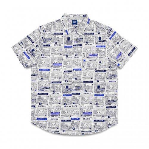 【20%OFF】QUARTER SNACKS-VENDER S/S SHIRT(WHITE)<img class='new_mark_img2' src='https://img.shop-pro.jp/img/new/icons20.gif' style='border:none;display:inline;margin:0px;padding:0px;width:auto;' />