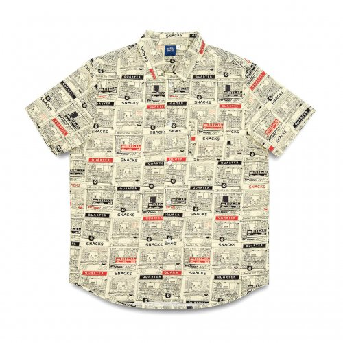 【20%OFF】QUARTER SNACKS-VENDER S/S SHIRT(BUTTER)<img class='new_mark_img2' src='https://img.shop-pro.jp/img/new/icons20.gif' style='border:none;display:inline;margin:0px;padding:0px;width:auto;' />