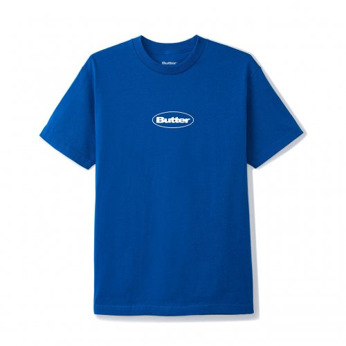 BUTTER GOODS-Puff Badge Logo T-SHIRT(ROYAL)<img class='new_mark_img2' src='//img.shop-pro.jp/img/new/icons5.gif' style='border:none;display:inline;margin:0px;padding:0px;width:auto;' />