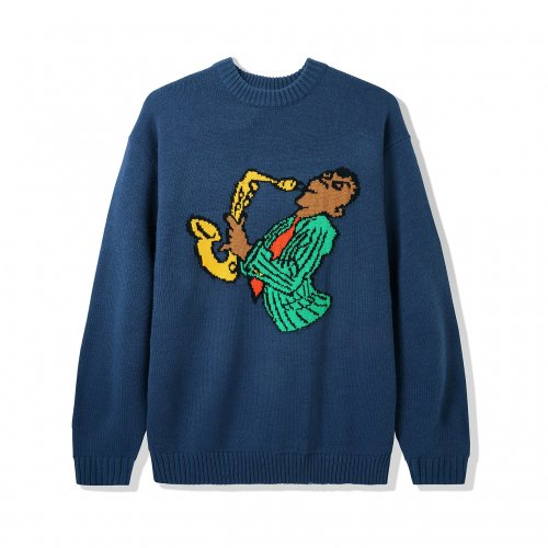 BUTTER GOODS-Sax Knit Sweater(NAVY)<img class='new_mark_img2' src='https://img.shop-pro.jp/img/new/icons5.gif' style='border:none;display:inline;margin:0px;padding:0px;width:auto;' />