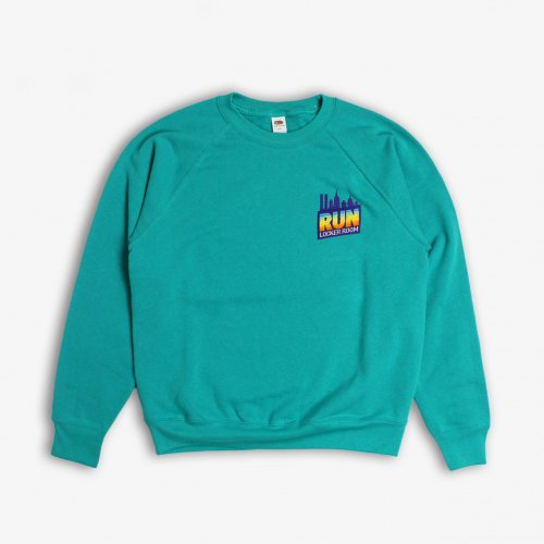 LOCKER ROOM-YOU MUST RUN CREW NECK SWEAT(EMERALD)<img class='new_mark_img2' src='https://img.shop-pro.jp/img/new/icons5.gif' style='border:none;display:inline;margin:0px;padding:0px;width:auto;' />