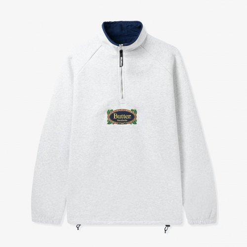 BUTTER GOODS-Crest 1/4 Zip Pullover(Ash GREY)<img class='new_mark_img2' src='https://img.shop-pro.jp/img/new/icons5.gif' style='border:none;display:inline;margin:0px;padding:0px;width:auto;' />