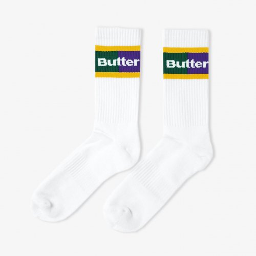 BUTTER GOODS-Court Socks(WHITE)<img class='new_mark_img2' src='https://img.shop-pro.jp/img/new/icons5.gif' style='border:none;display:inline;margin:0px;padding:0px;width:auto;' />