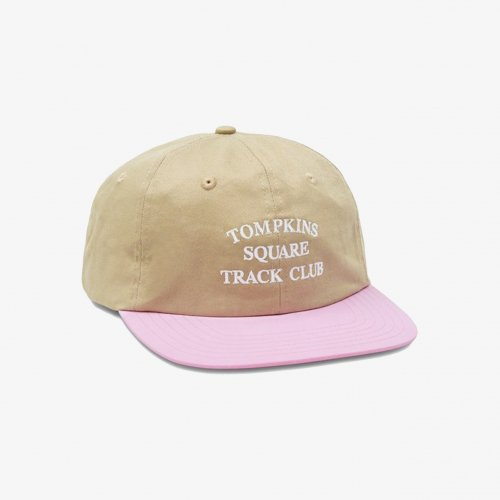 QUARTER SNACKS-TRACK CLUB  CAP(TAN/PINK)<img class='new_mark_img2' src='https://img.shop-pro.jp/img/new/icons5.gif' style='border:none;display:inline;margin:0px;padding:0px;width:auto;' />