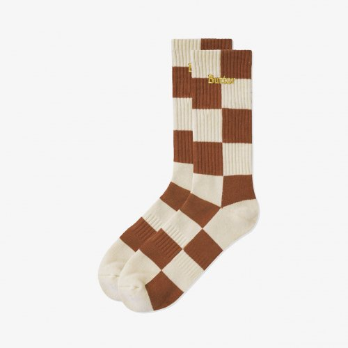 BUTTER GOODS-Checkered Socks(Natural)<img class='new_mark_img2' src='https://img.shop-pro.jp/img/new/icons5.gif' style='border:none;display:inline;margin:0px;padding:0px;width:auto;' />