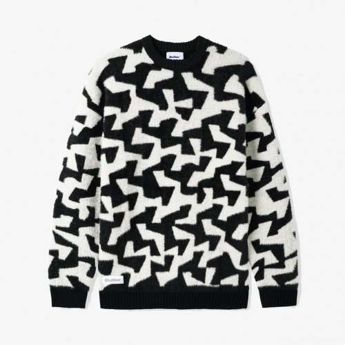BUTTER GOODS-Mohair Knit Sweater(Black / White)<img class='new_mark_img2' src='https://img.shop-pro.jp/img/new/icons5.gif' style='border:none;display:inline;margin:0px;padding:0px;width:auto;' />