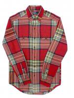 POLO RALPH LAUREN -L/S CHECK SHIRTS(RED)