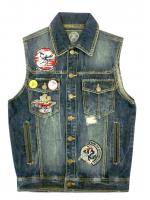 BORN FLY- DENIM VEST<img class='new_mark_img2' src='//img.shop-pro.jp/img/new/icons5.gif' style='border:none;display:inline;margin:0px;padding:0px;width:auto;' />