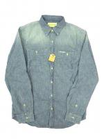 DENIM&SUPPLY -L/S SHIRT(LIGHT BLUE)<img class='new_mark_img2' src='https://img.shop-pro.jp/img/new/icons5.gif' style='border:none;display:inline;margin:0px;padding:0px;width:auto;' />