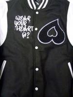 HEART CLOTHING -VARSITY JACKET(BLACK)<img class='new_mark_img2' src='//img.shop-pro.jp/img/new/icons34.gif' style='border:none;display:inline;margin:0px;padding:0px;width:auto;' />