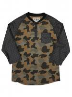 WINCHESTER -LEATHER SLEEVE HENLEY KNECK RAG LAN (CAMO)<img class='new_mark_img2' src='//img.shop-pro.jp/img/new/icons5.gif' style='border:none;display:inline;margin:0px;padding:0px;width:auto;' />