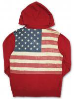 DENIM&SUPPLY -Z/U HOODIE(RED)<img class='new_mark_img2' src='//img.shop-pro.jp/img/new/icons20.gif' style='border:none;display:inline;margin:0px;padding:0px;width:auto;' />