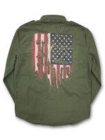 DENIM&SUPPLY - L/ S MILITARY SHIRT(OLIVE)<img class='new_mark_img2' src='//img.shop-pro.jp/img/new/icons5.gif' style='border:none;display:inline;margin:0px;padding:0px;width:auto;' />