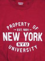 【20%OFF】NYU -CREW NECK SWEAT(RED)<img class='new_mark_img2' src='https://img.shop-pro.jp/img/new/icons20.gif' style='border:none;display:inline;margin:0px;padding:0px;width:auto;' />