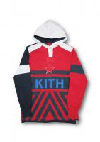 KITH -ACADEMY GREENWICH HOODED RUGBY SHIRT(RED)<img class='new_mark_img2' src='//img.shop-pro.jp/img/new/icons5.gif' style='border:none;display:inline;margin:0px;padding:0px;width:auto;' />