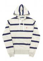POLO RALPH LAUREN -STRIPED HOODIE(GRAY)<img class='new_mark_img2' src='//img.shop-pro.jp/img/new/icons5.gif' style='border:none;display:inline;margin:0px;padding:0px;width:auto;' />