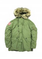 DENIM&SUPPLY - COTTON N3-B DOWN JACKET(OLIVE)<img class='new_mark_img2' src='https://img.shop-pro.jp/img/new/icons20.gif' style='border:none;display:inline;margin:0px;padding:0px;width:auto;' />