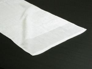 【通常配送】140匁 海外製 シリンダー加工 平地付き 白タオル