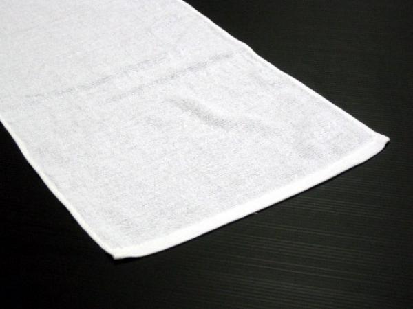 【通常配送】200匁 海外製 シリンダー加工 総パイル 白タオル