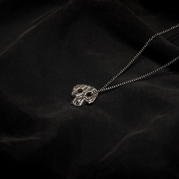 Silver Scull Necklace