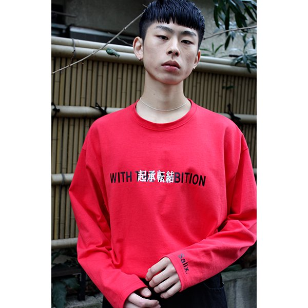 【30%OFF】THEME EMBROIDERY TEE L/S / RED