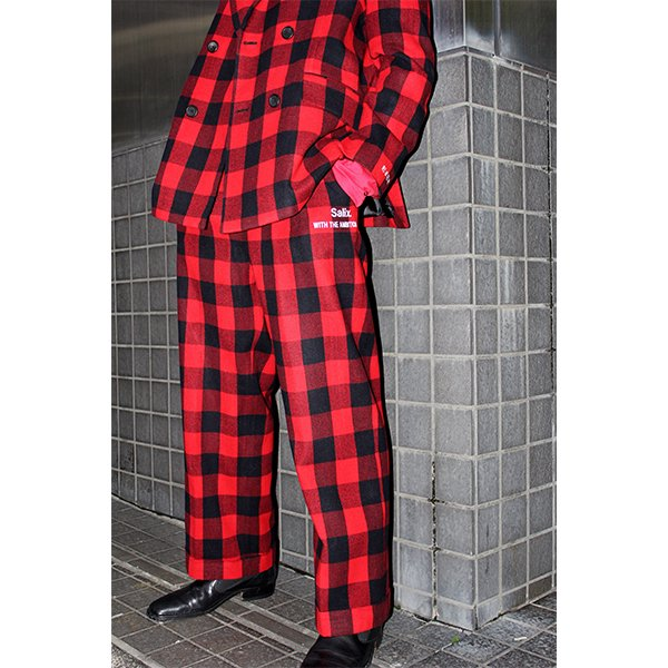 【20%OFF】THEME EMBROIDERY SET UP / TARTAN CHECK RED