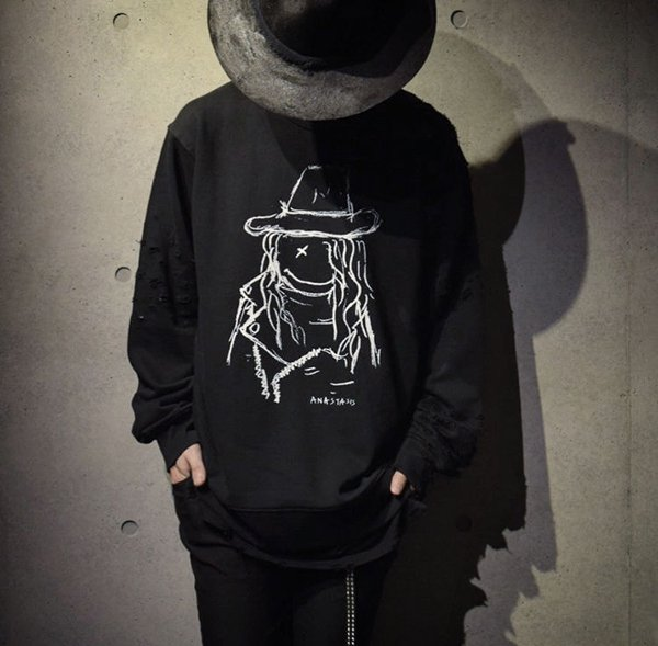 ANASTASIS Sweat Shirt BLACK