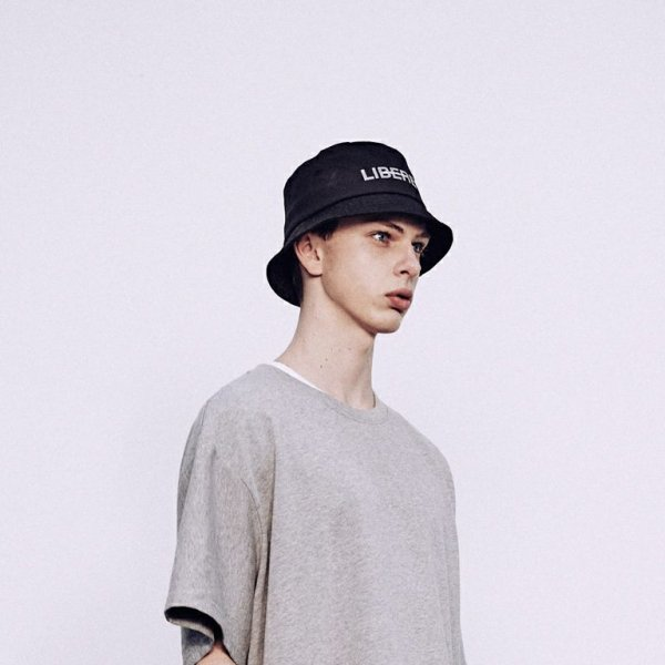 LOGO BUCKET HAT / BLACK