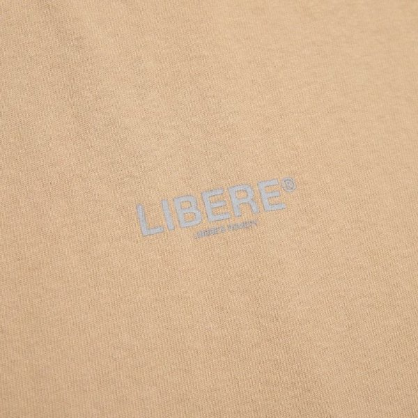 OVER SIZE LOGO TEE SHIRTS / BEIGE