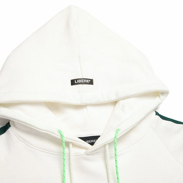 TAPE GYM SWEAT HOODIE / WHITE