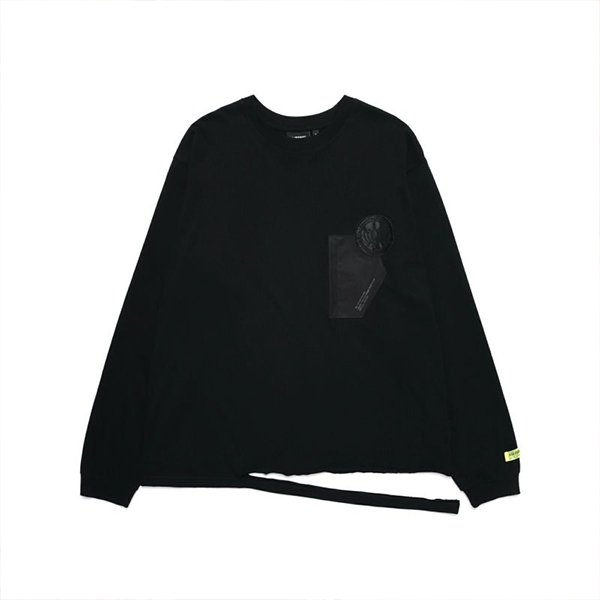 DAMAGE POCKET LONGSLEEVE / BLACK