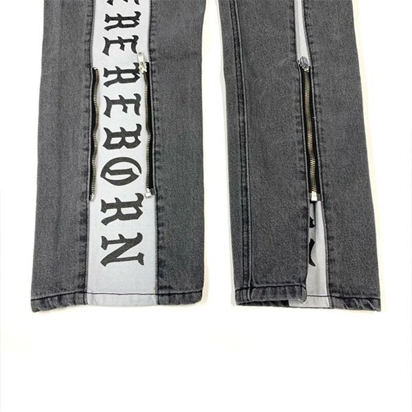 REBORN TWO FACE JEANS / BLACK