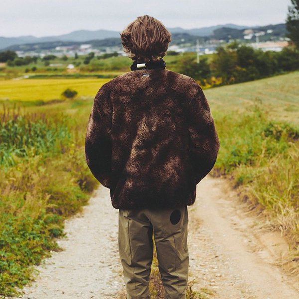 RIVERSIBLE SHERPA JACKET / BROWN