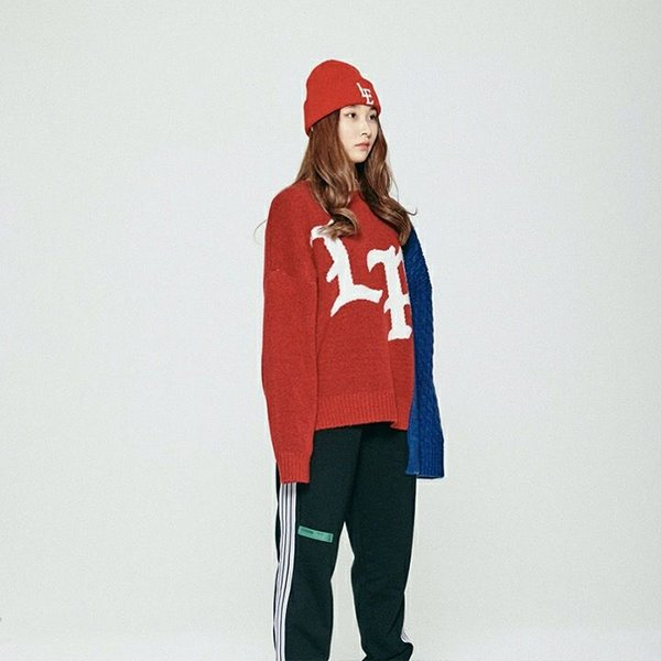TWOFACE KNIT SWEATER / RED