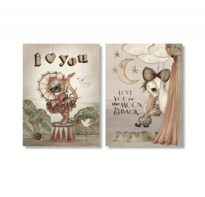2-PACK A6 CARDS MOON LOVE